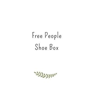 7 pairs of Free People Shoes, inventory  Box